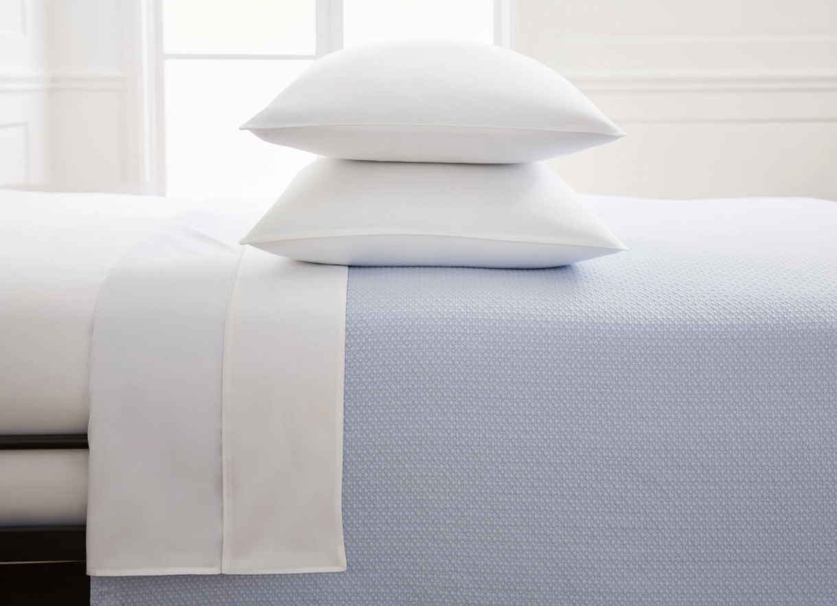 """Hill House Home """"The Dream"""" Matelasse Coverlet in Powder Blue"""