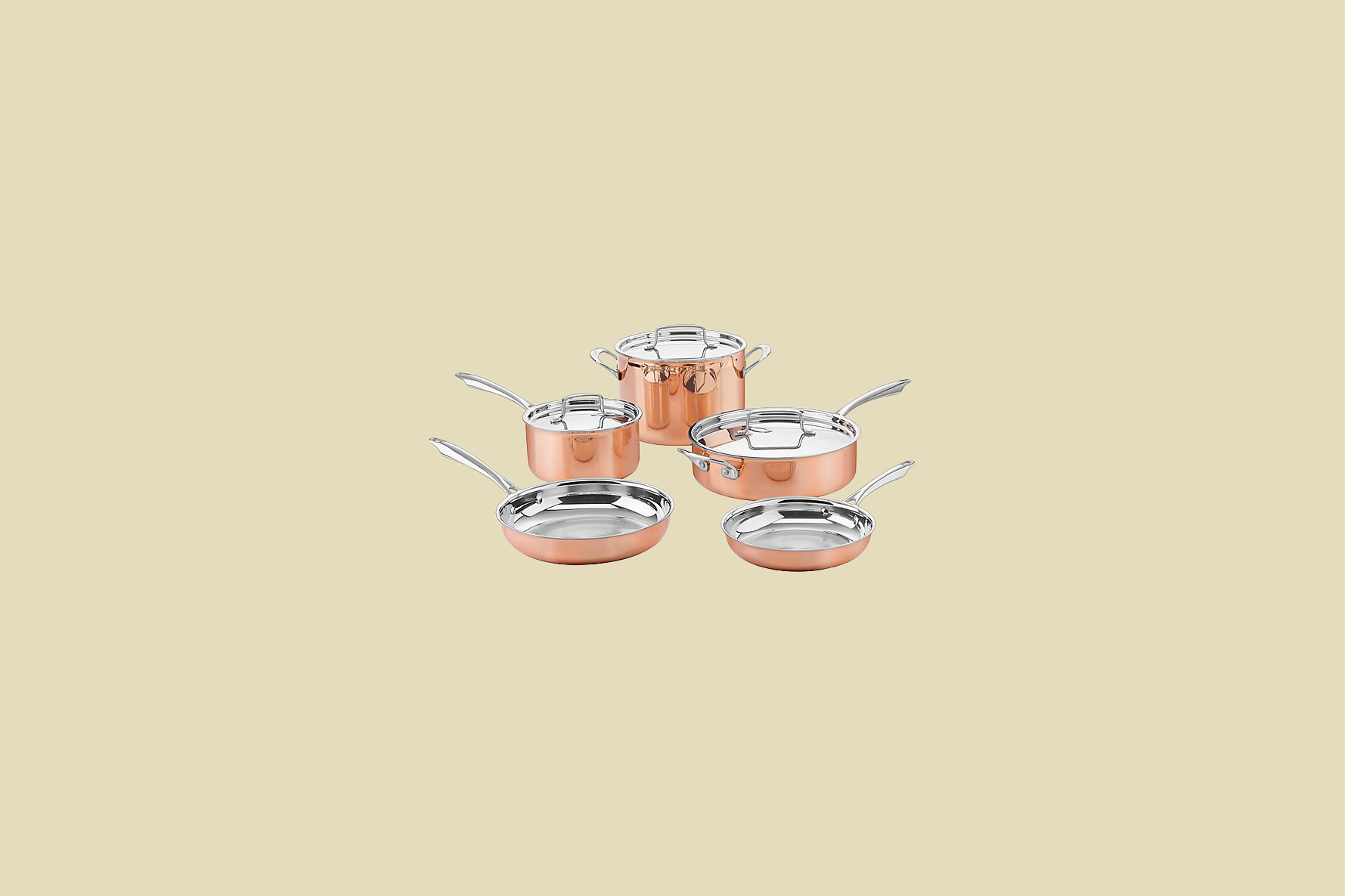 cuisinart try ply copper cookware