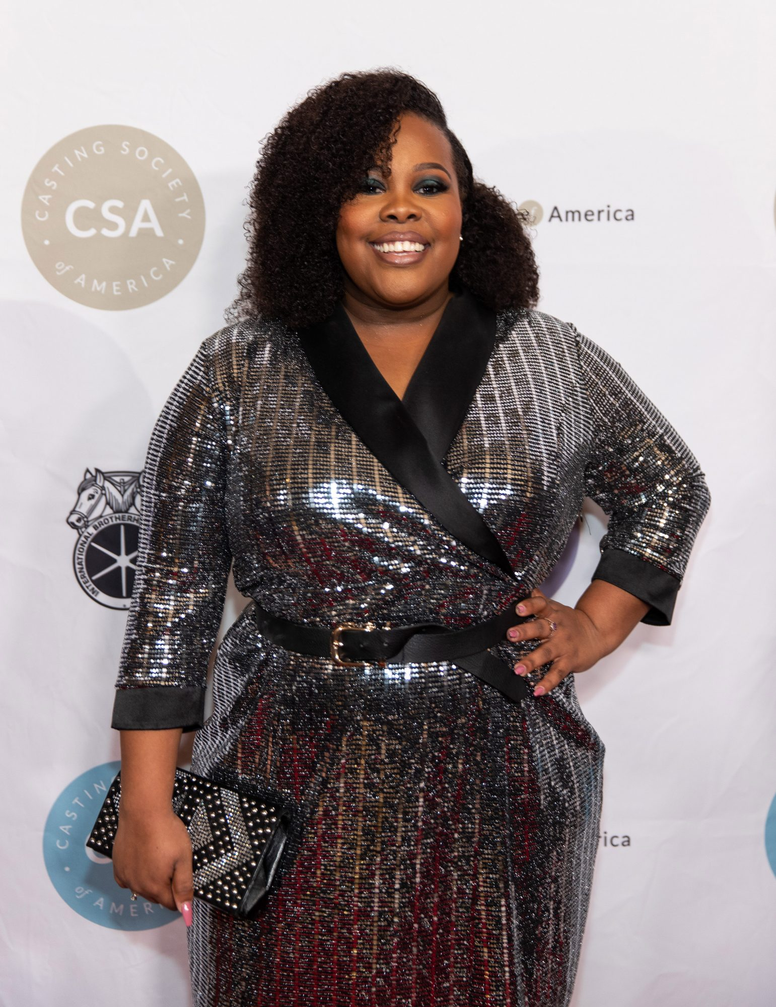 amber riley on the red carpet for the Casting Society of America's 34th Annual Artios Awards