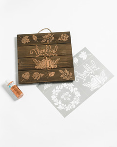 merch stencil thankful sign product