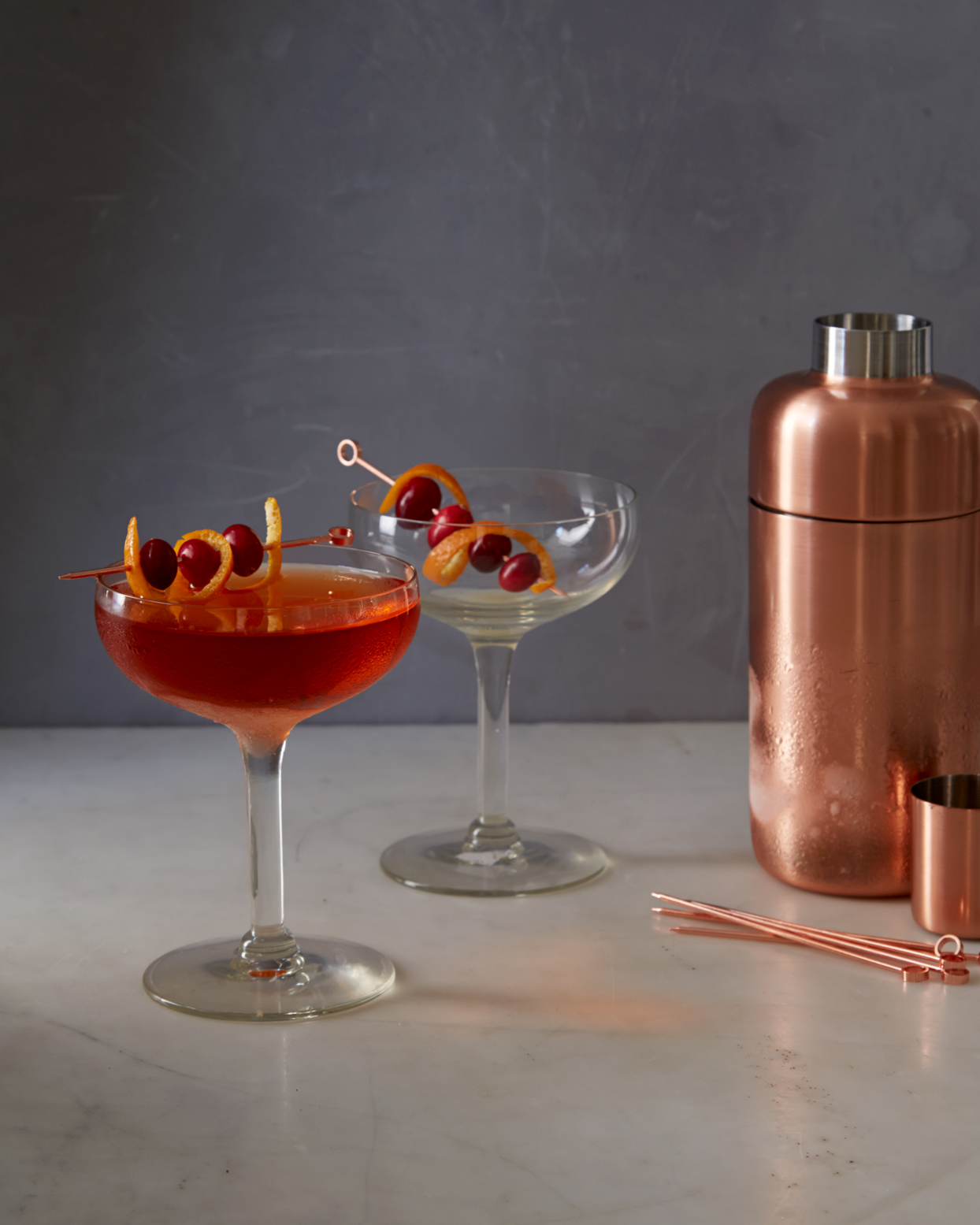 citrus dreaming cocktails and copper cocktail shaker