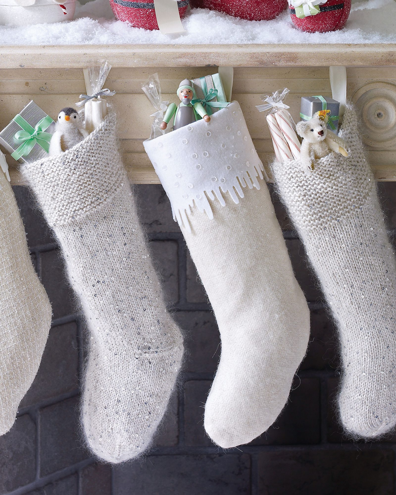 mohair Christmas stockings