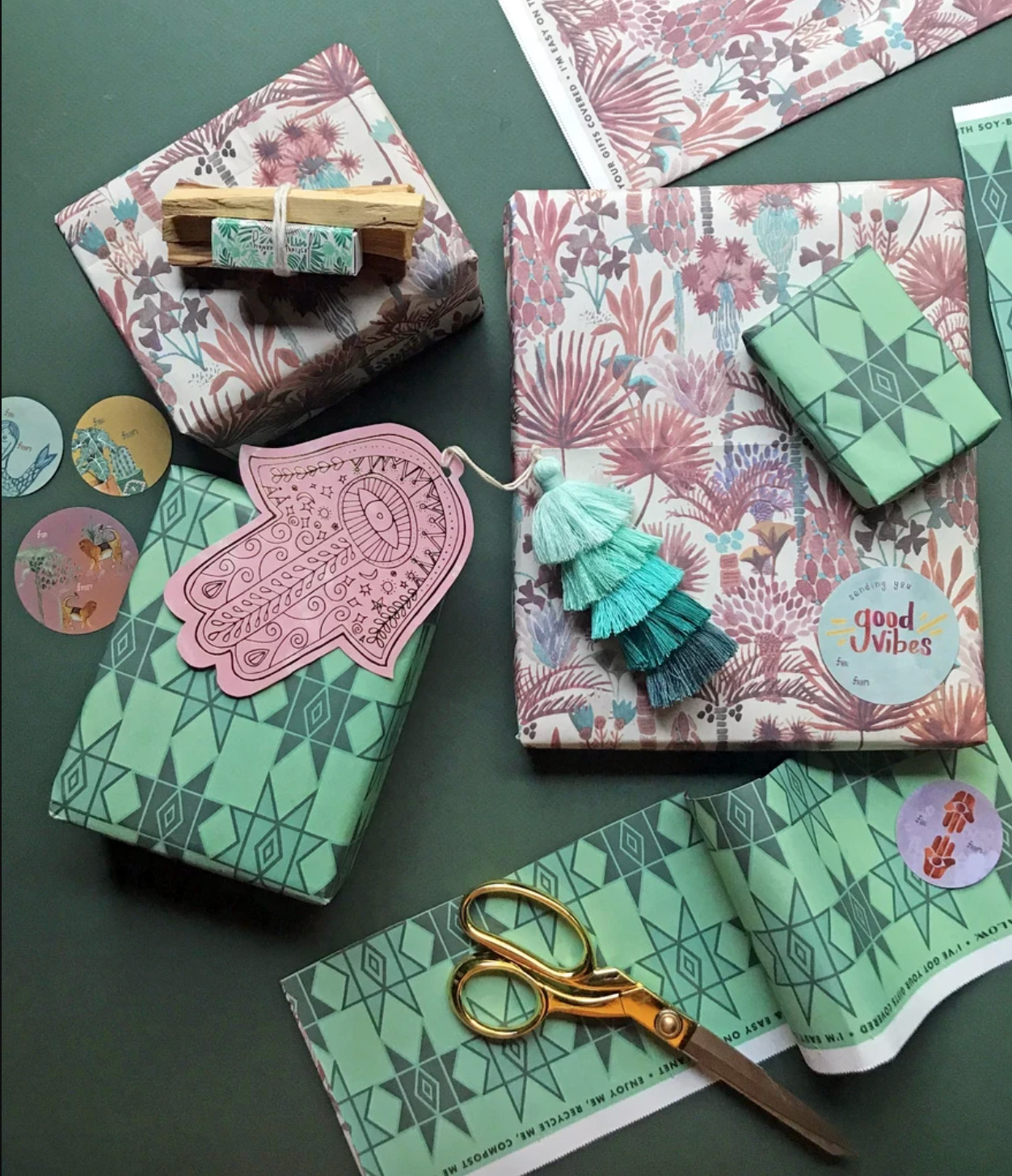 """Jungalow """"Jungalicious"""" Recycled Gift Paper"""