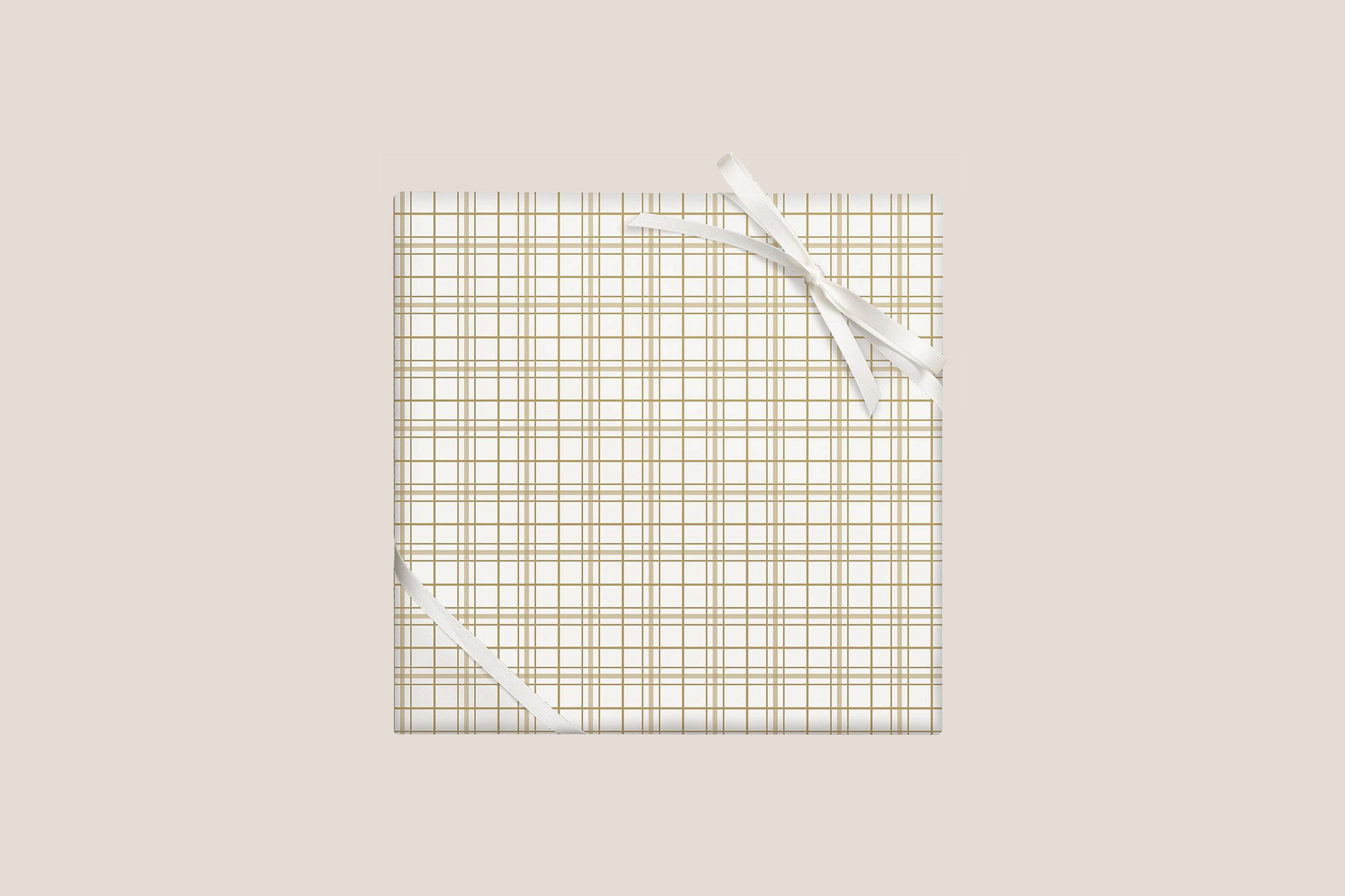 Paper Source Gold Foil Plaid Stone Wrapping Paper