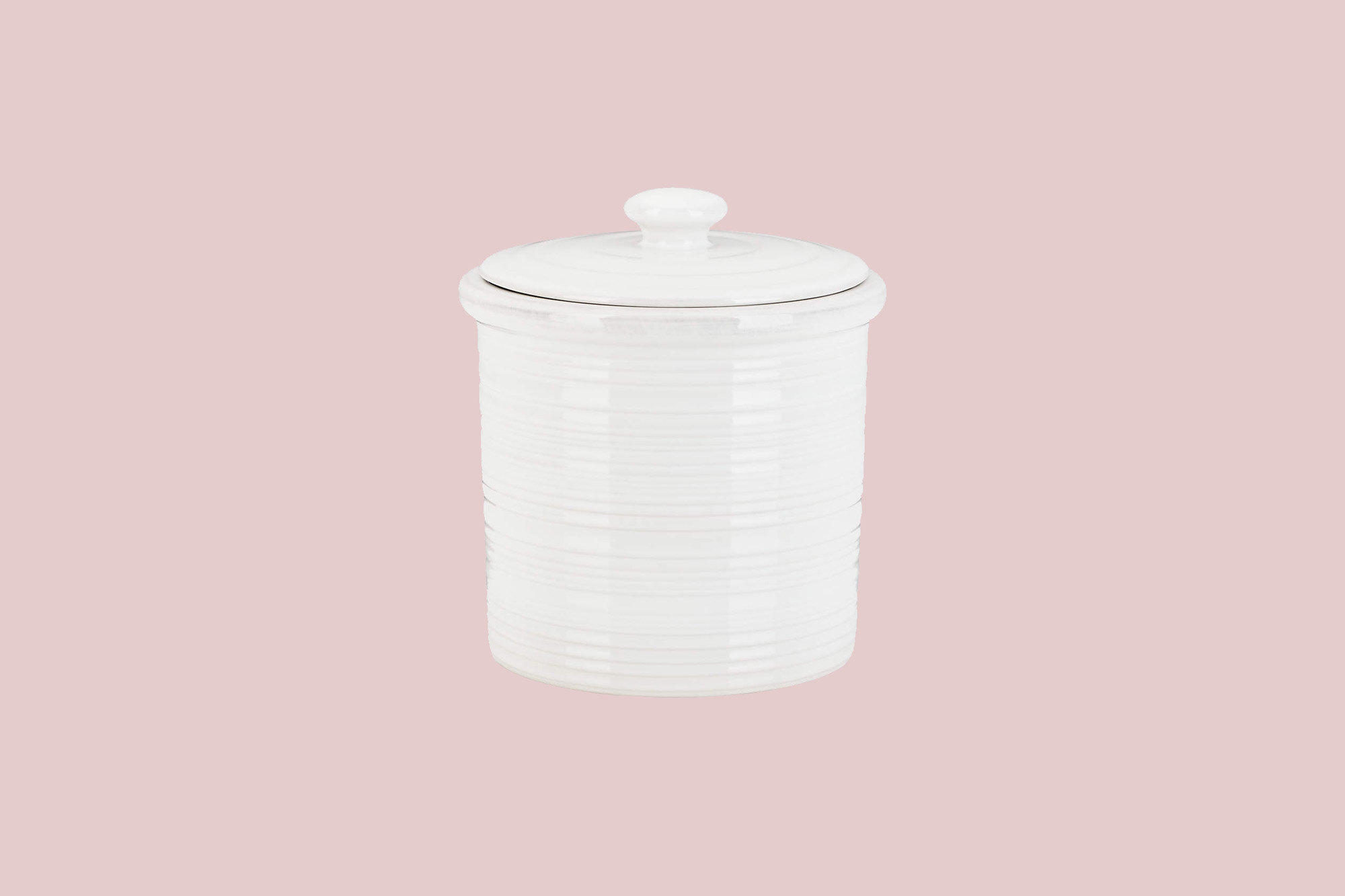 white farmhouse small canister