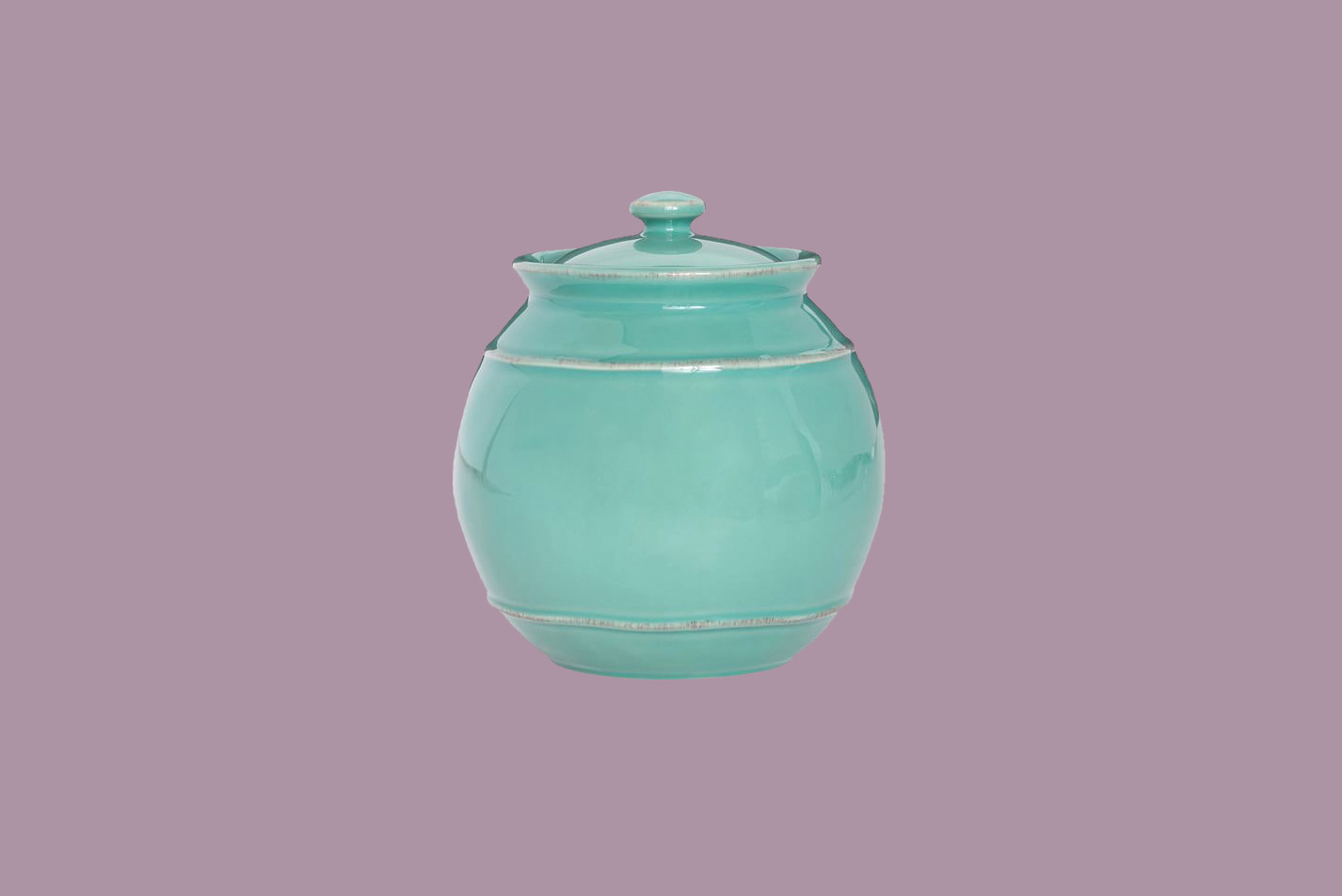 teal pottery barn cambria stoneware canister
