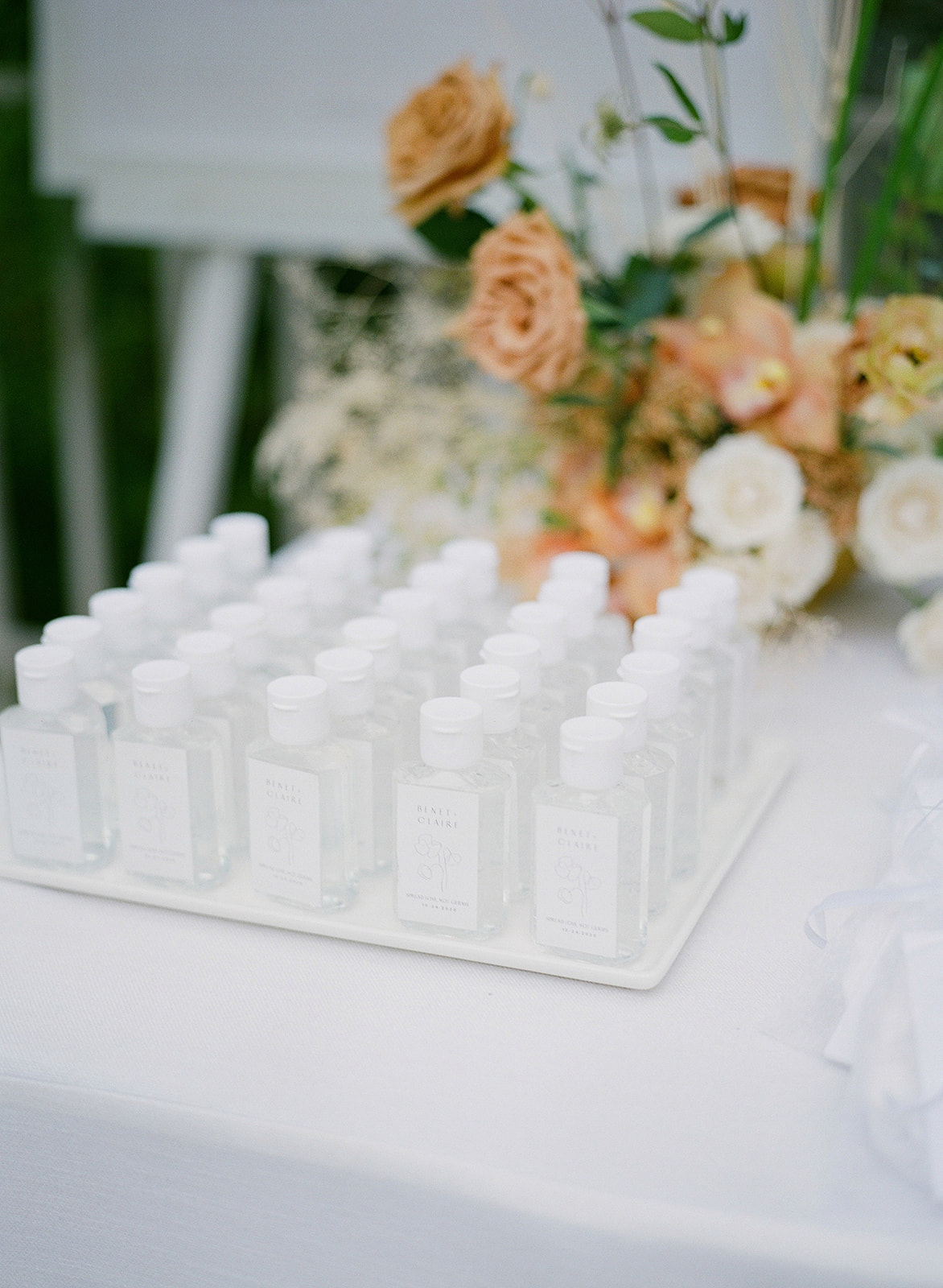 personalized wedding hand sanitizers