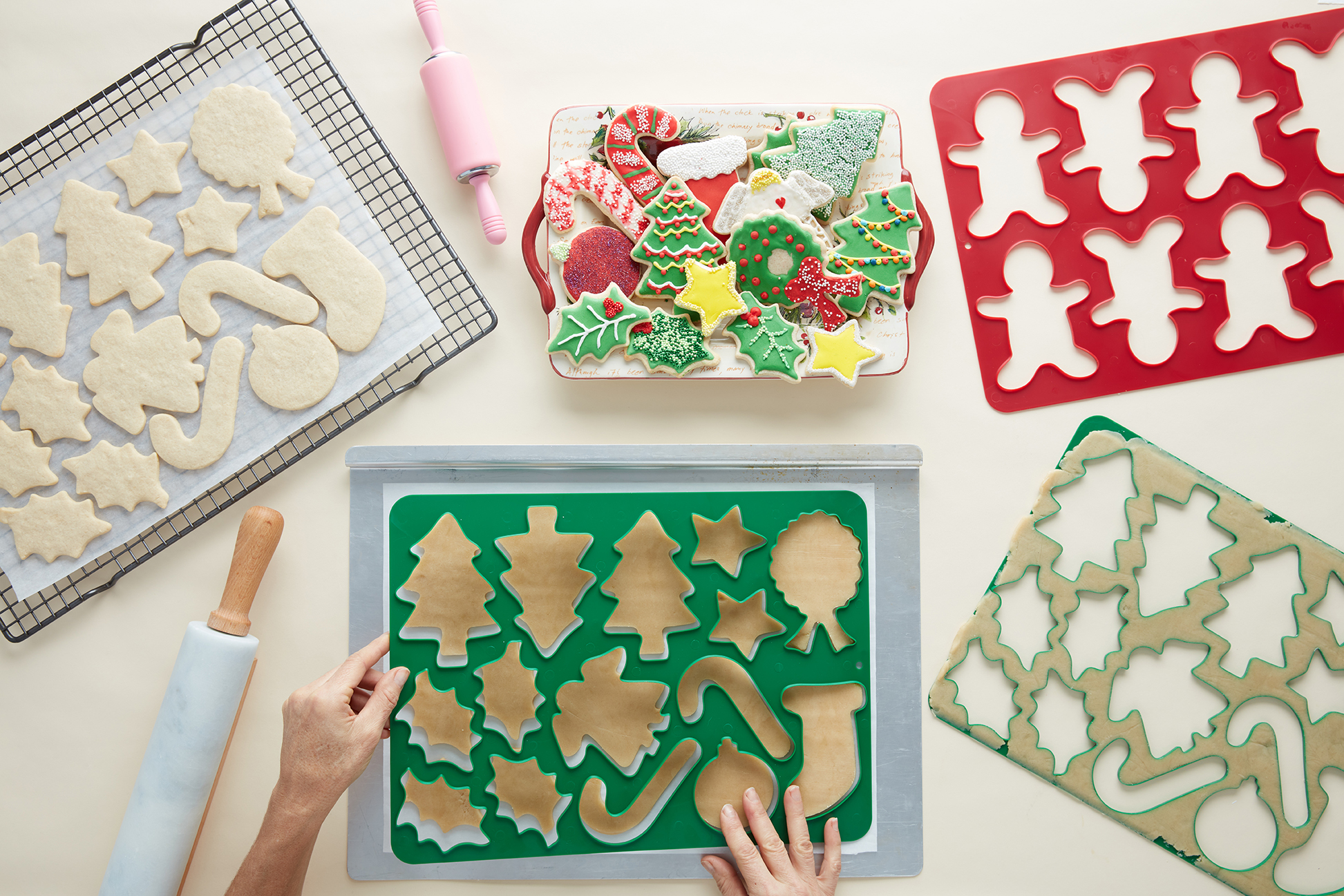 full sheet cookie cutters and cookies