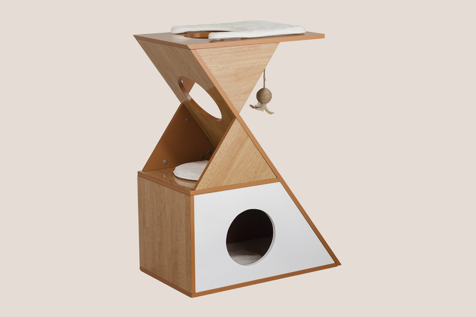 Staart Modern Cat Toy Tower & Condo