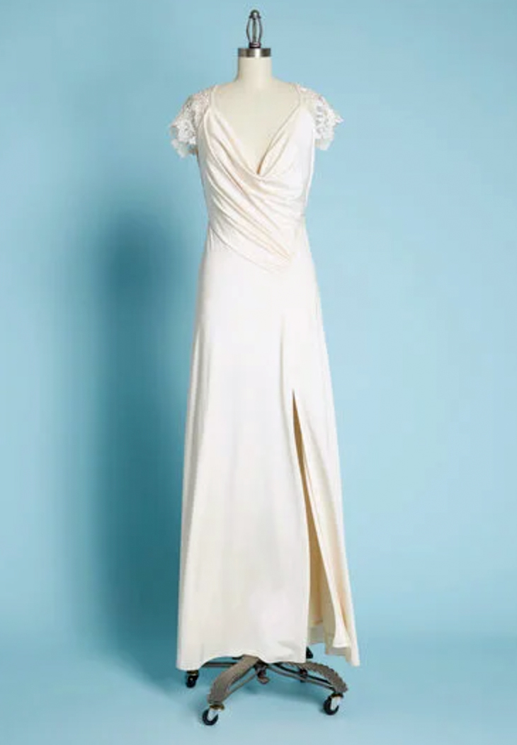 little mistress cowl be there satin maxi dress
