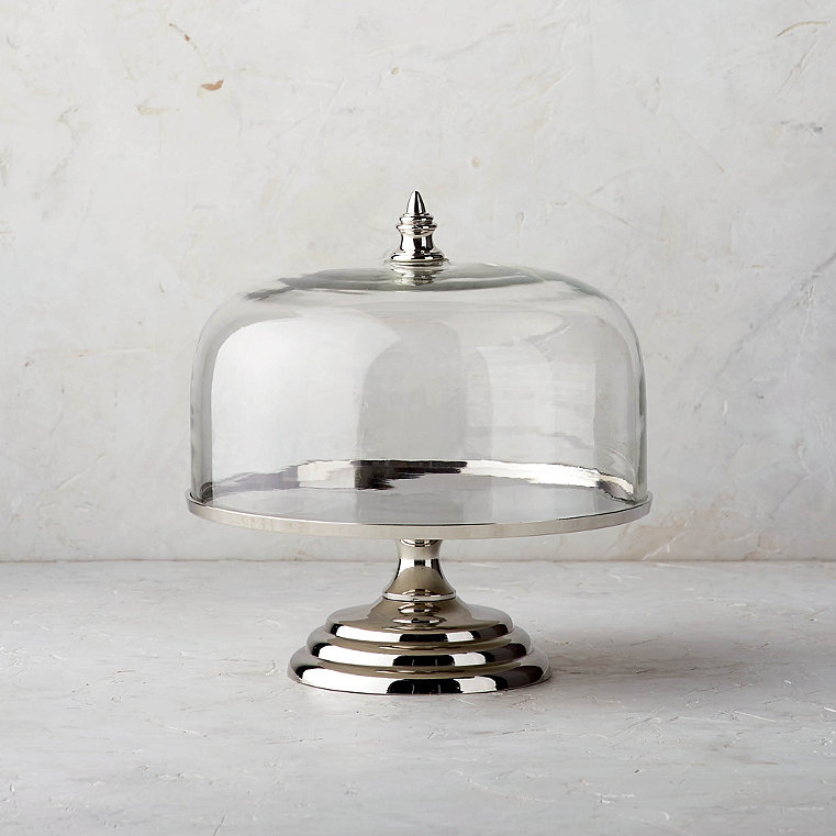 Amelie Single-Tier Cake Server with Cloche