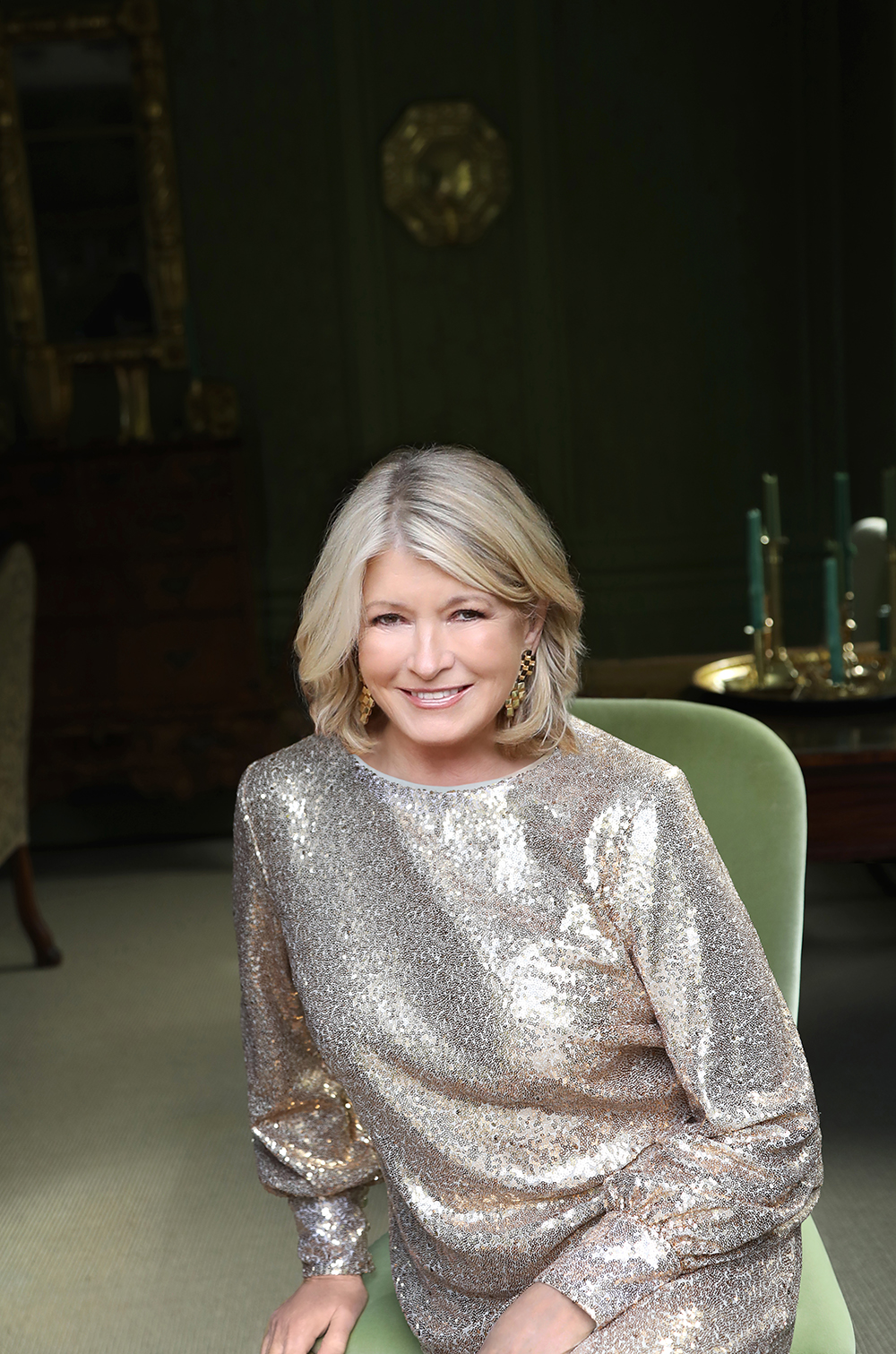 Martha Stewart in Sparkly Dress, Headshot