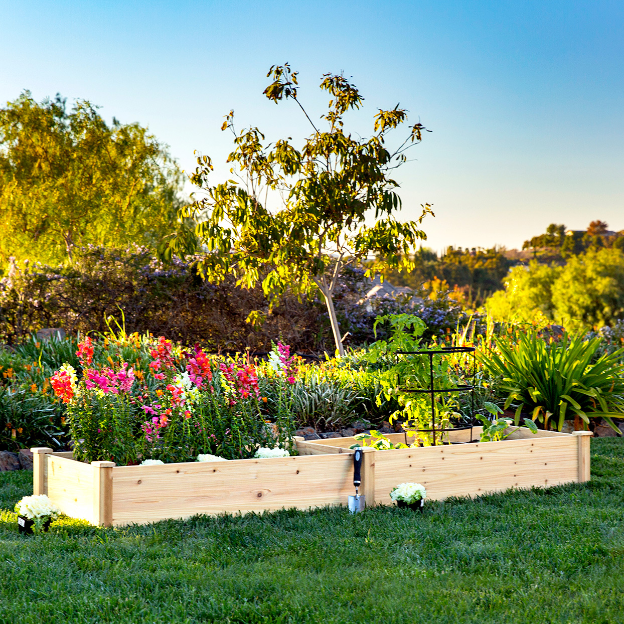 Best Choice Products Outdoor Wooden Raised Garden Bed