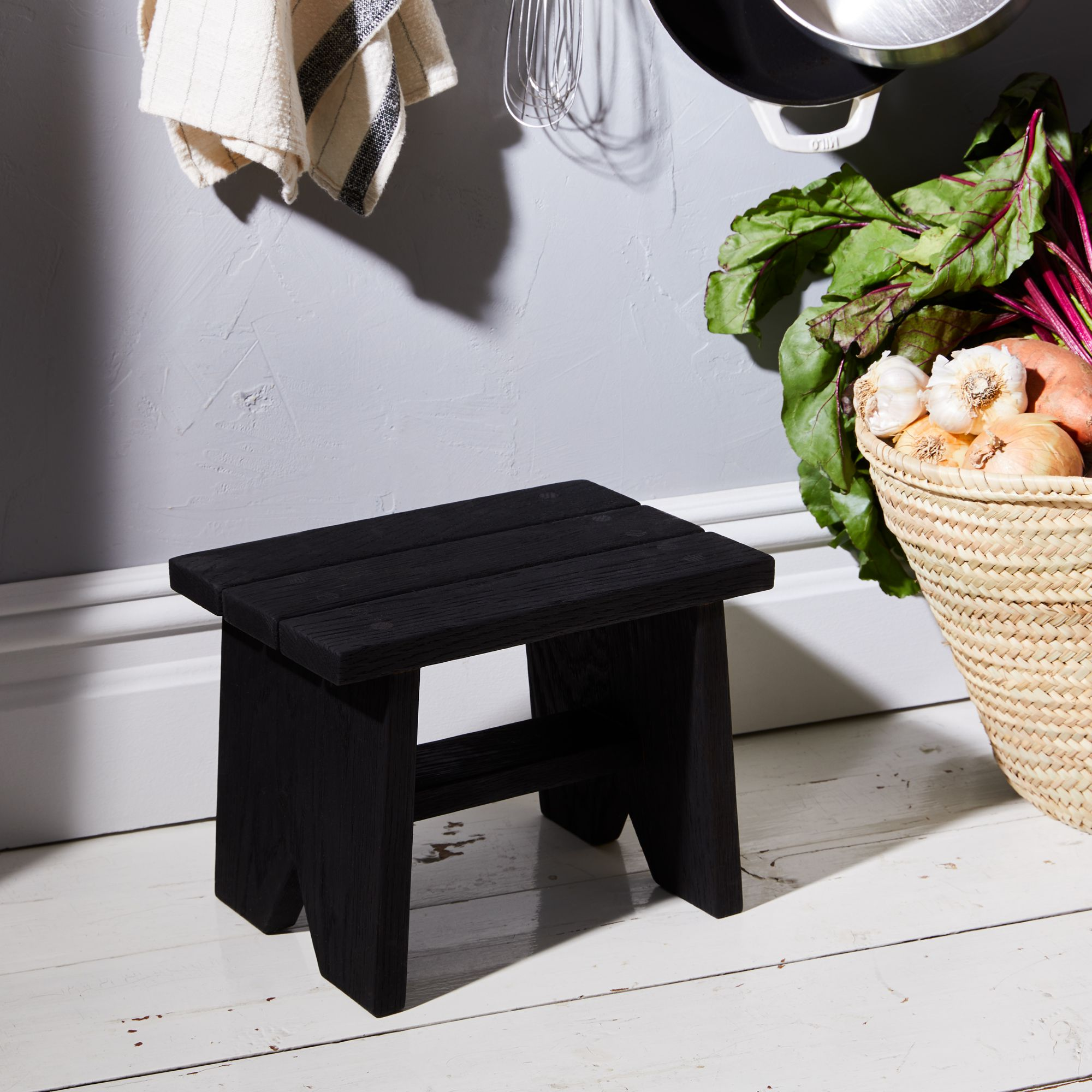 Peg and Awl Handcrafted Wooden Step Stool