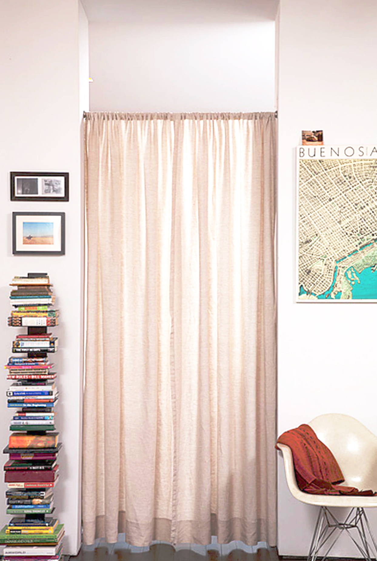 Long living room curtains
