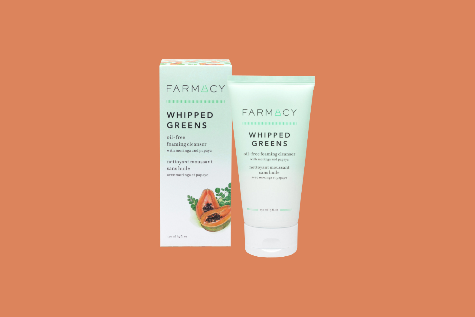 Farmacy Whipped Greens Oil-Free Foaming Cleanser With Moringa and Papaya