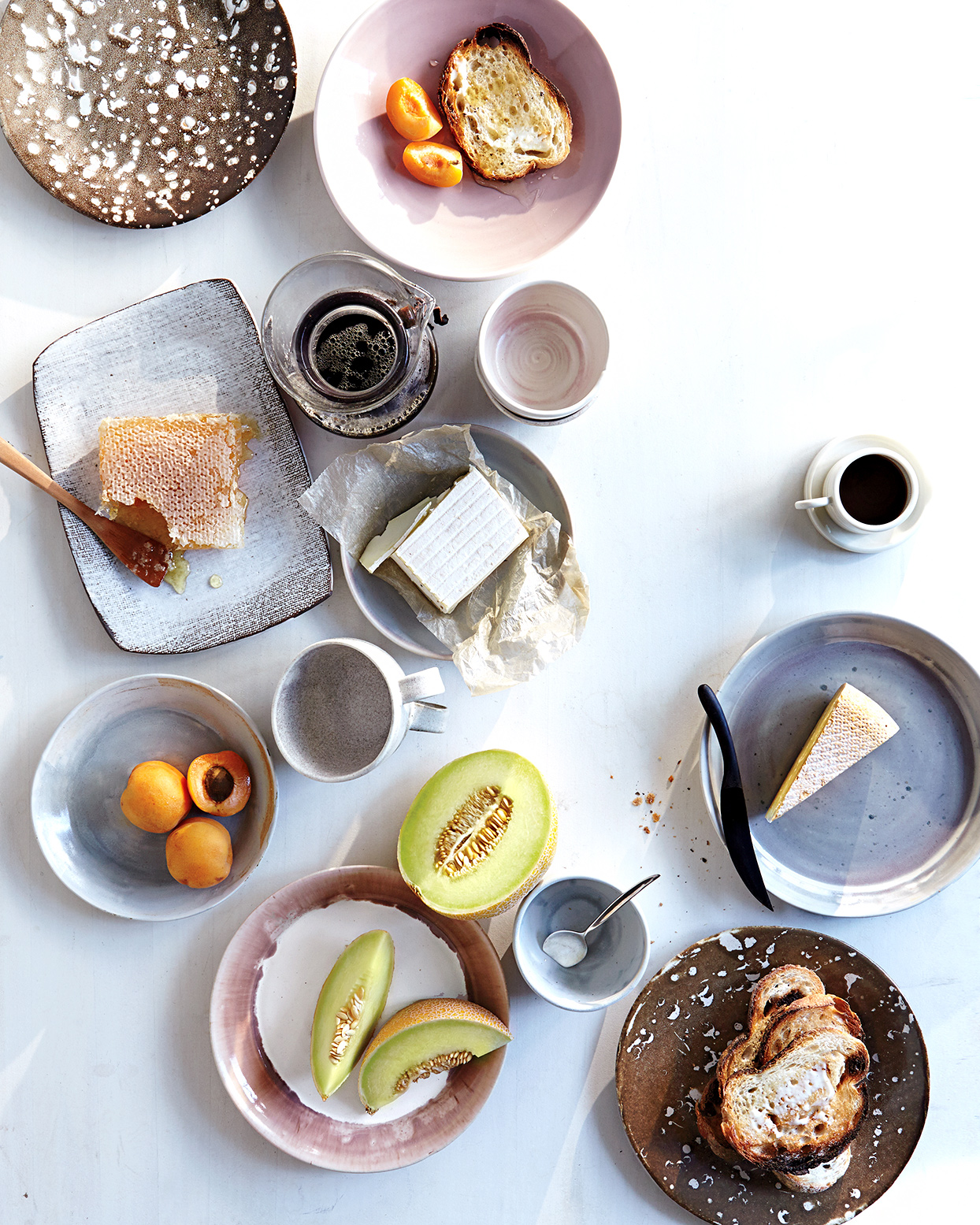 breakfast spread on table