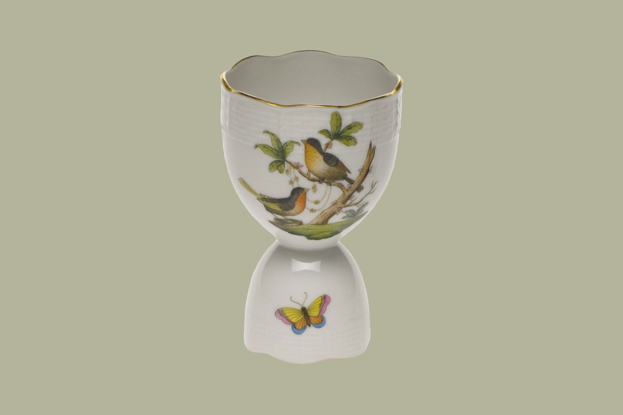 Herend Rothschild Bird Double Egg Cup