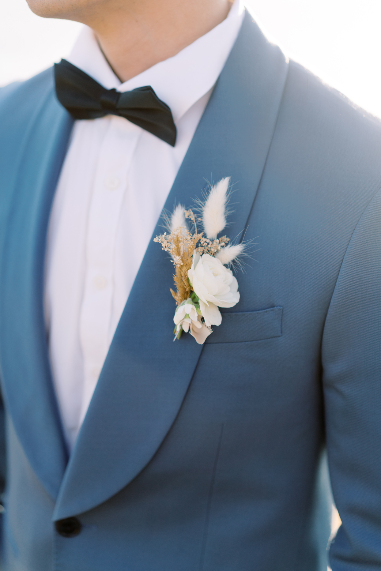 groom's floral boutonniere