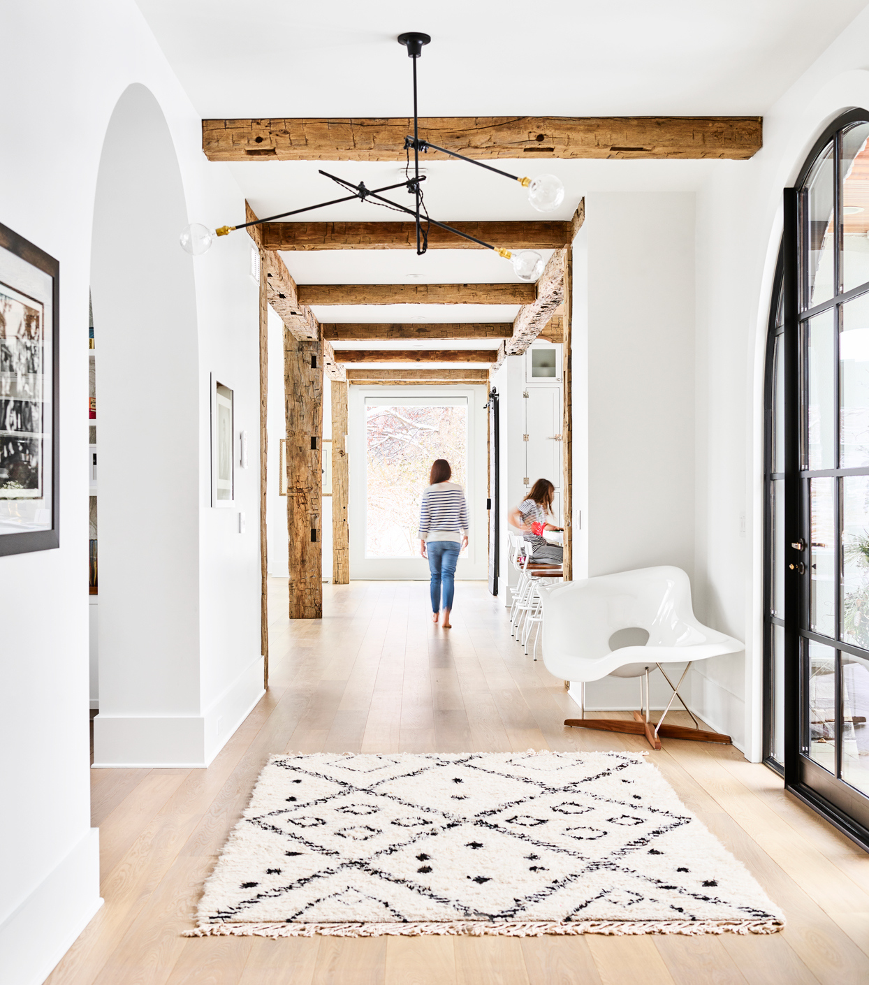 hub to kitchen and other spaces