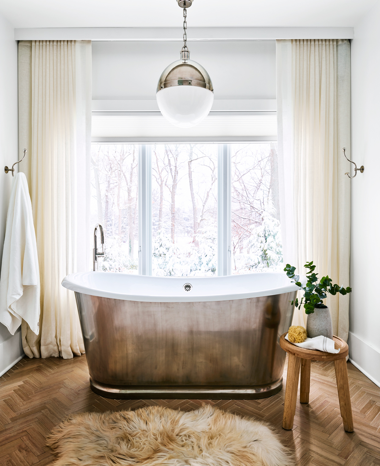 large bathroom with standalone tub