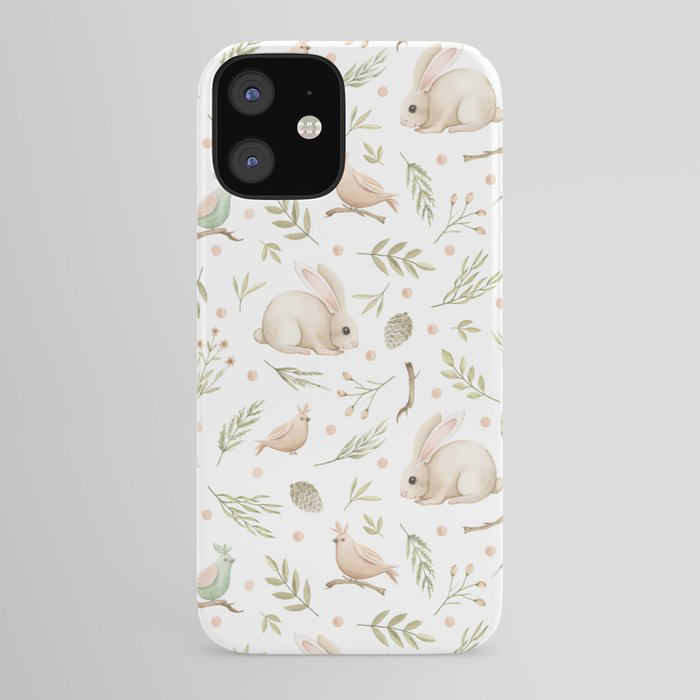 phone case with bunnies and birds