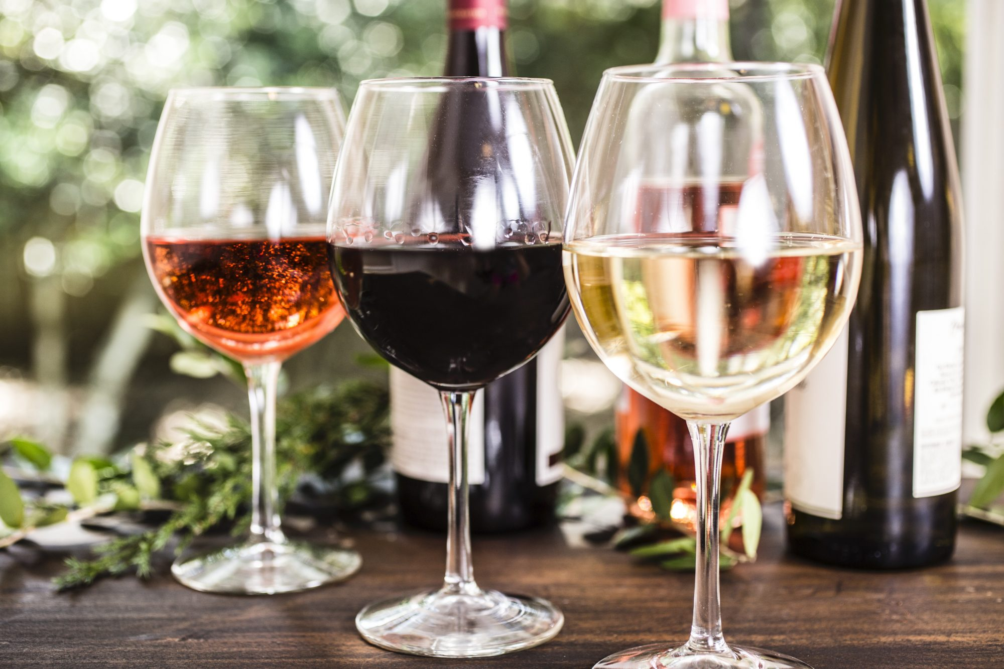 selections of wine