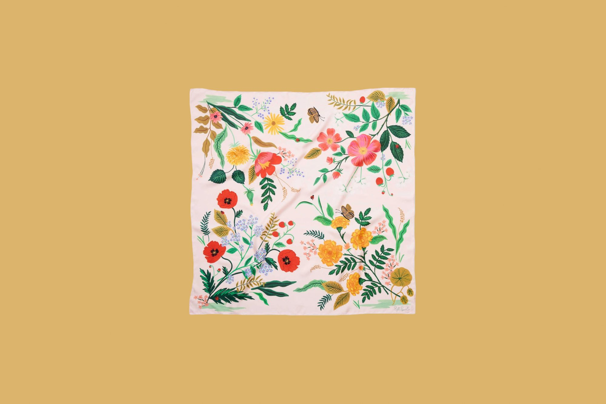 Rifle Paper Co. Silk Scarf in Botanical