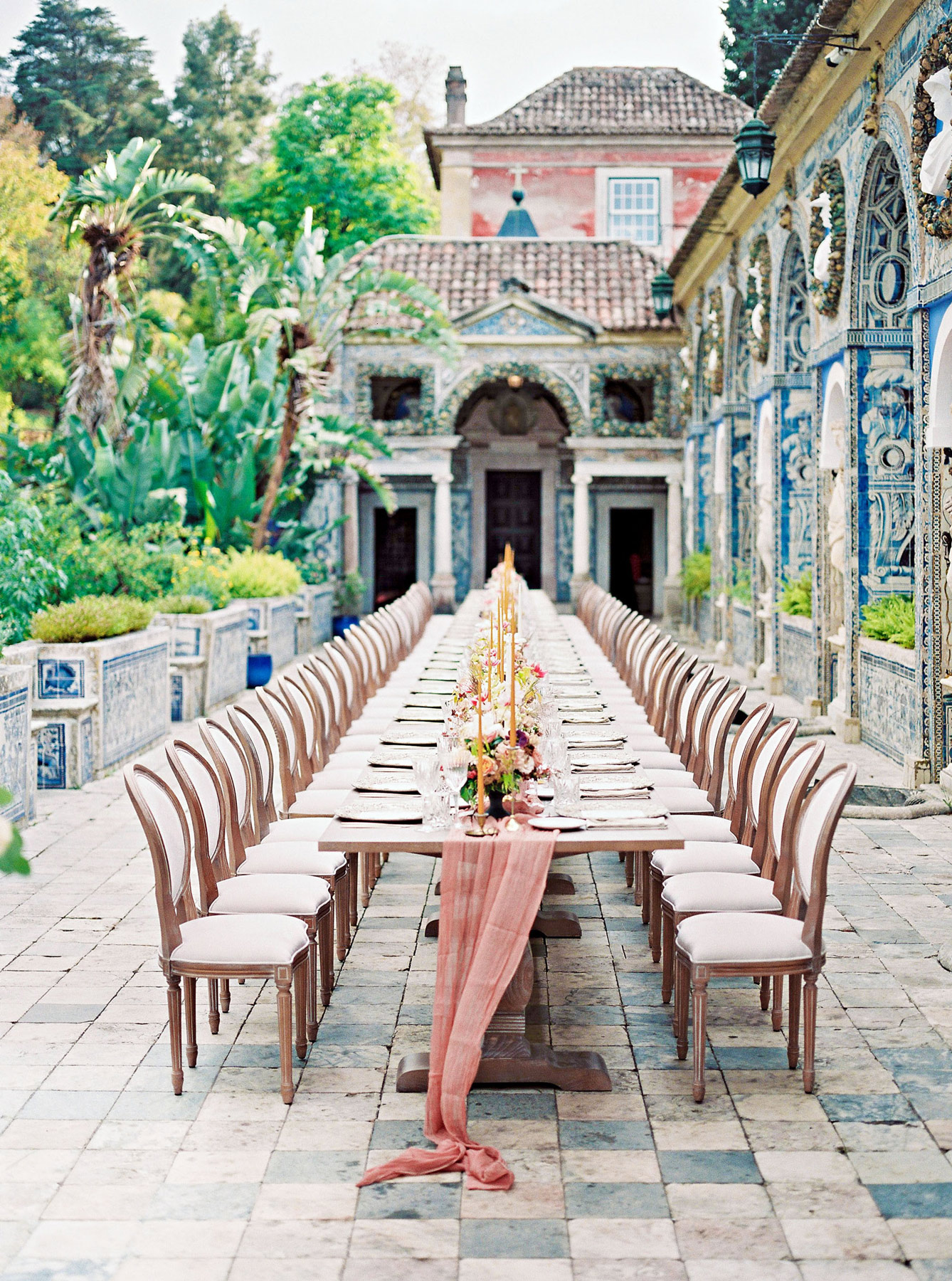 outdoor reception table during the day