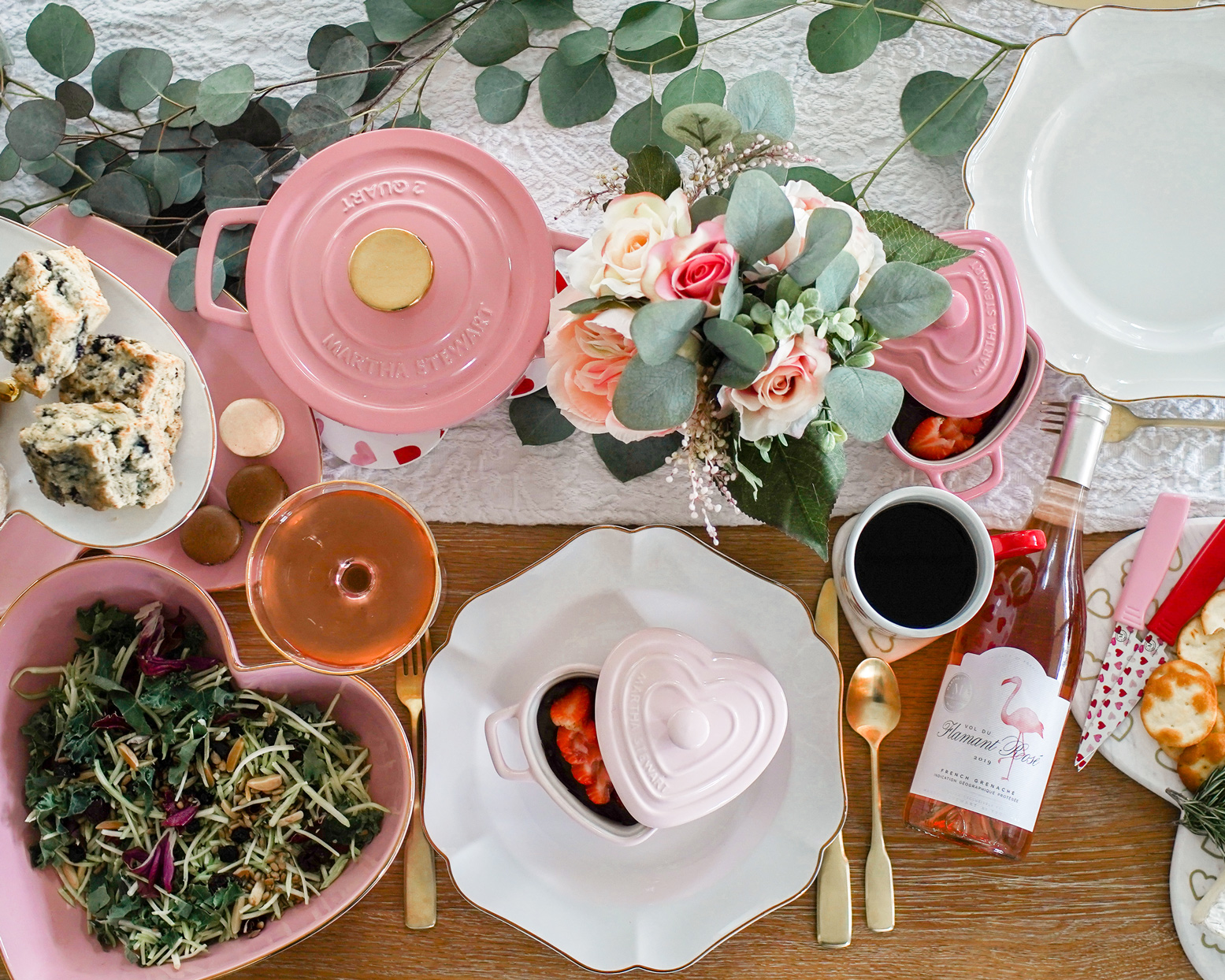 martha stewart valentine collection macys tablescape