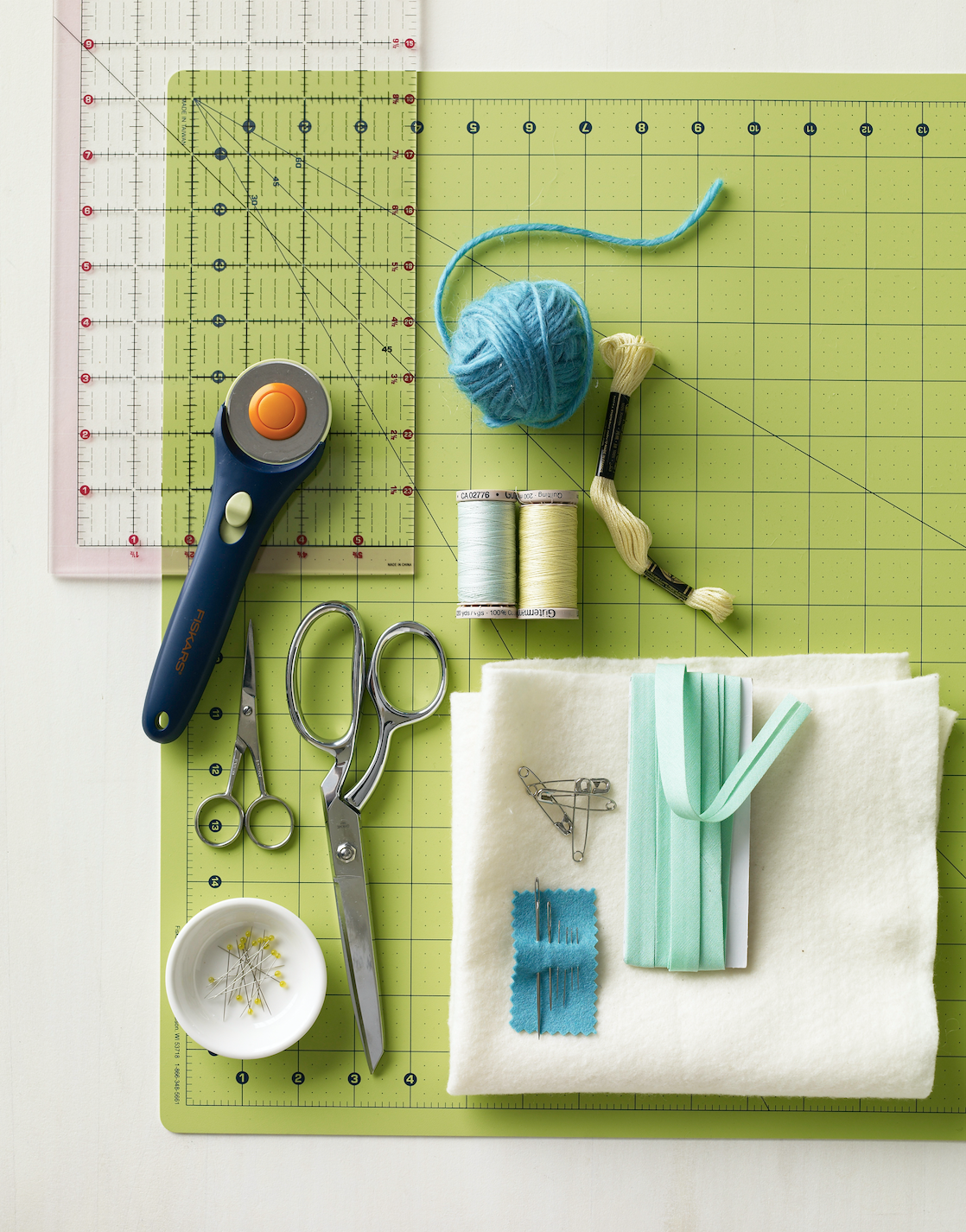 quilting tools and materials