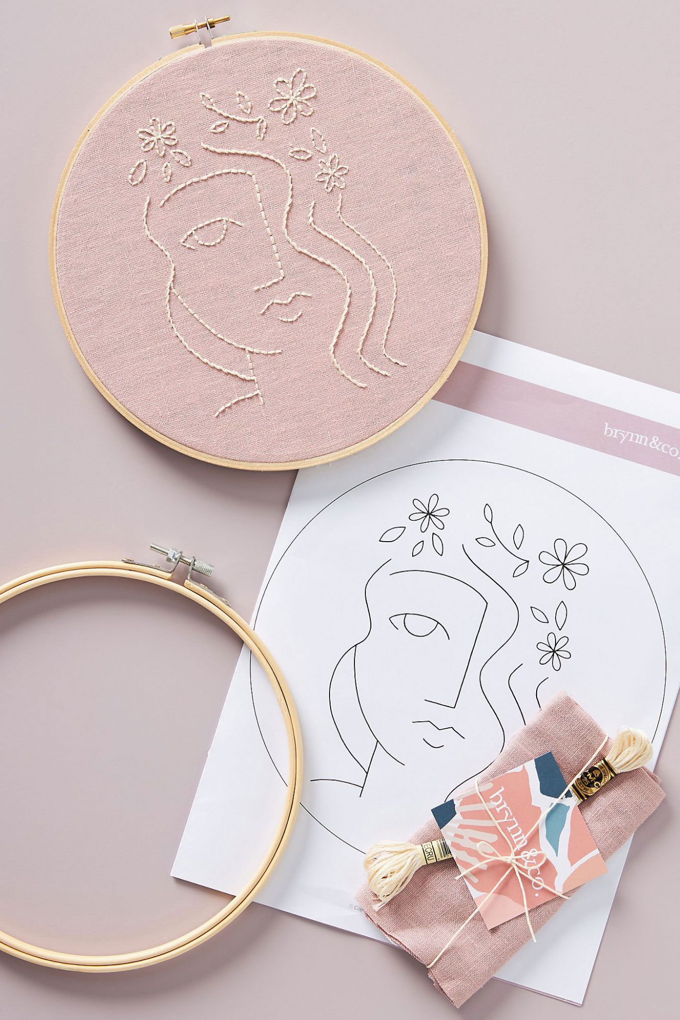 Flora Embroidery Kit