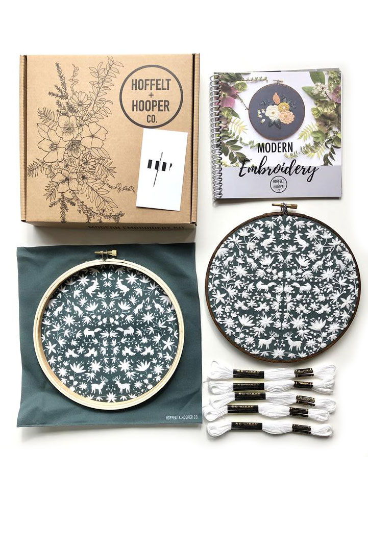 modern embroidery kit