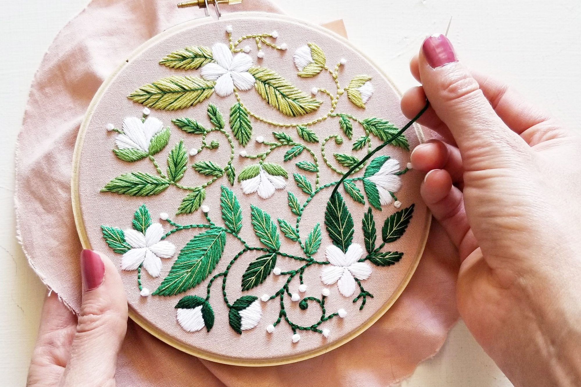 flower blooms embroidery