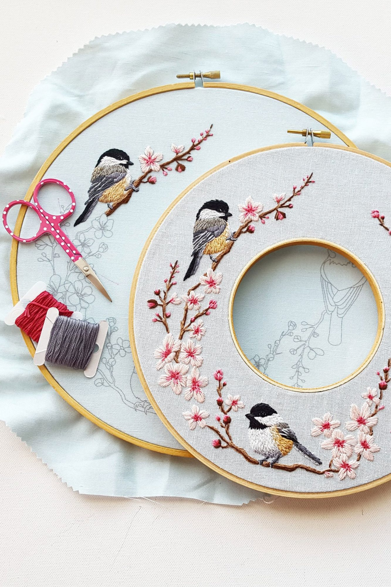 jessica long spring wreath embroidery