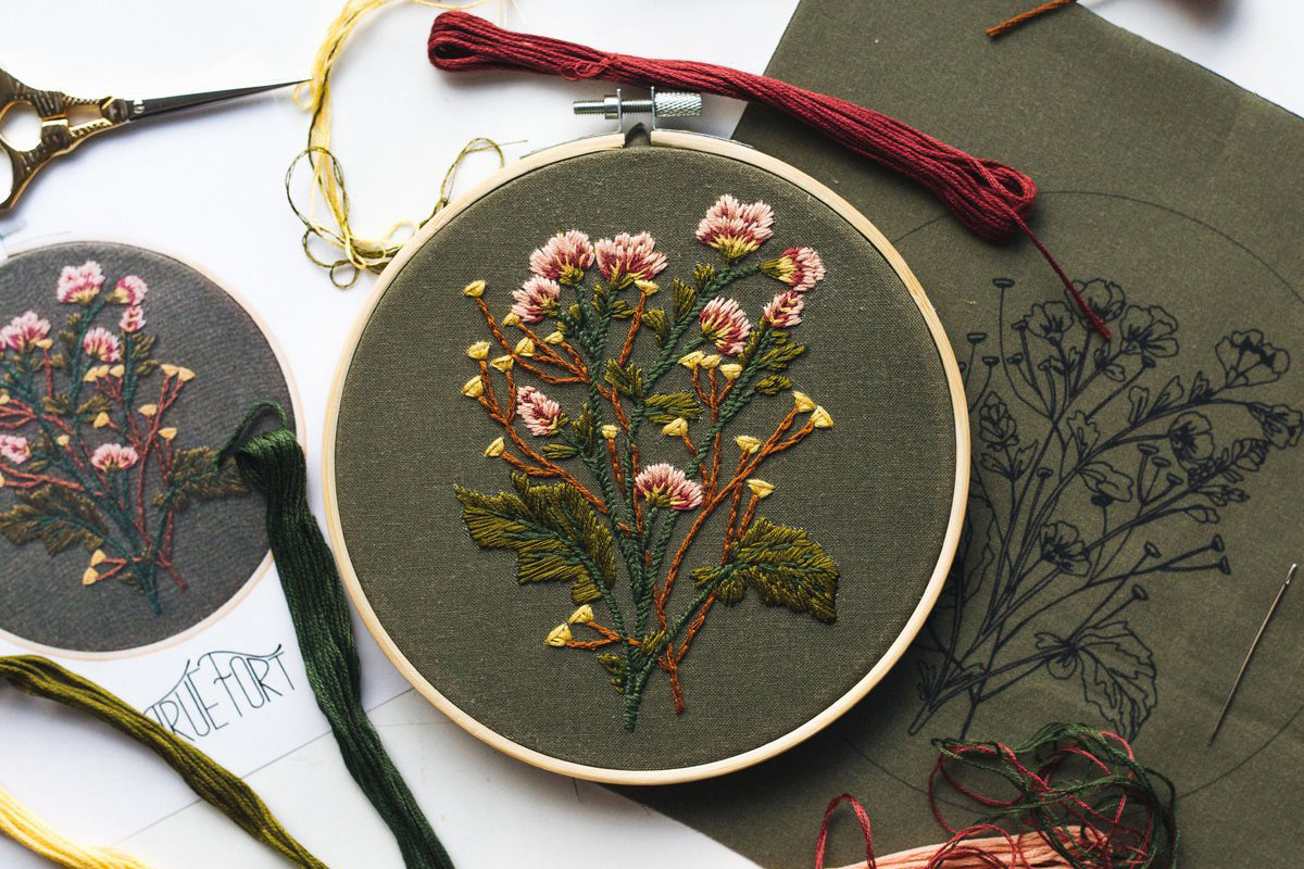 Hand Embroidery KIT Delicate Bloom