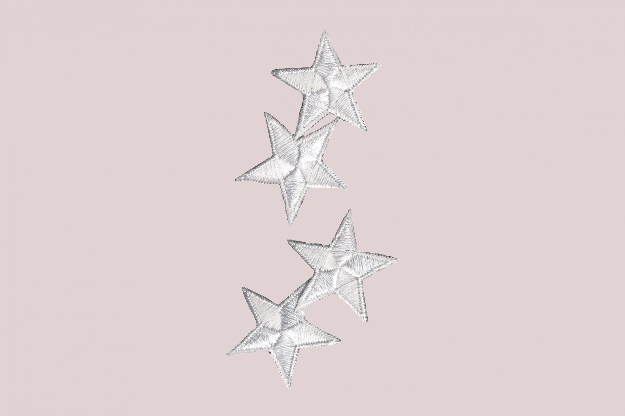 wrights iron-on white star appliques