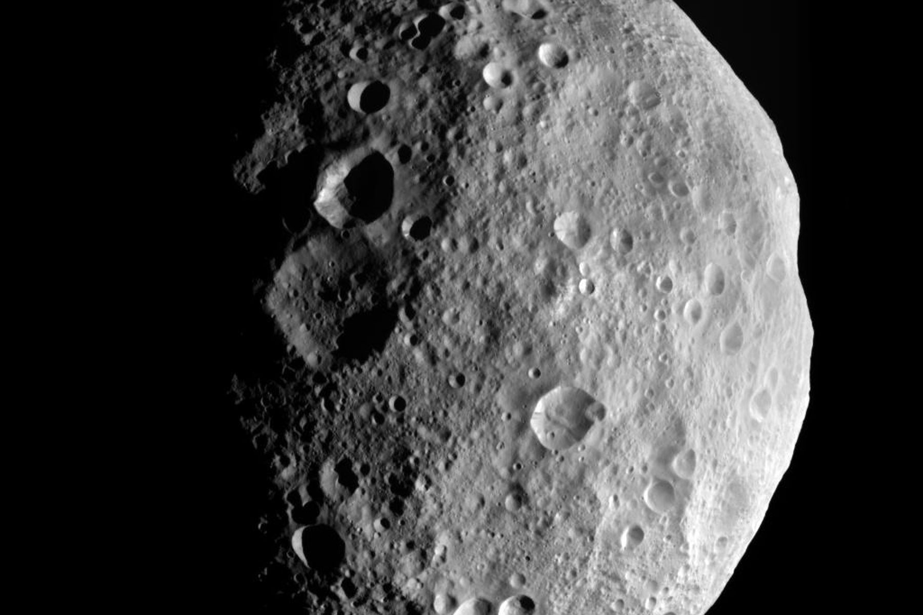 large asteroid moving past earth