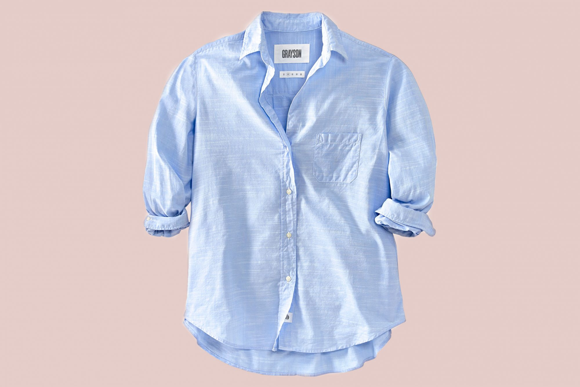 Grayson Hero washed-cotton shirt in French Blue