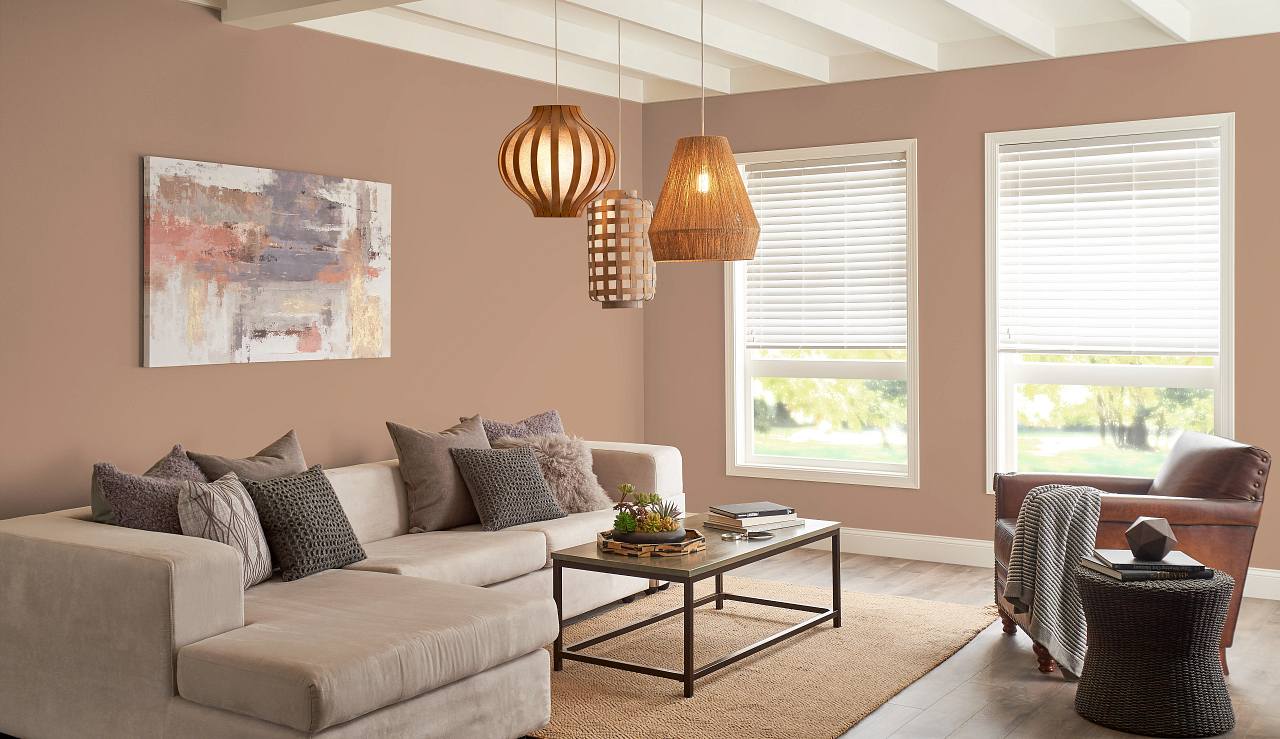 living room painted with behr color of the year