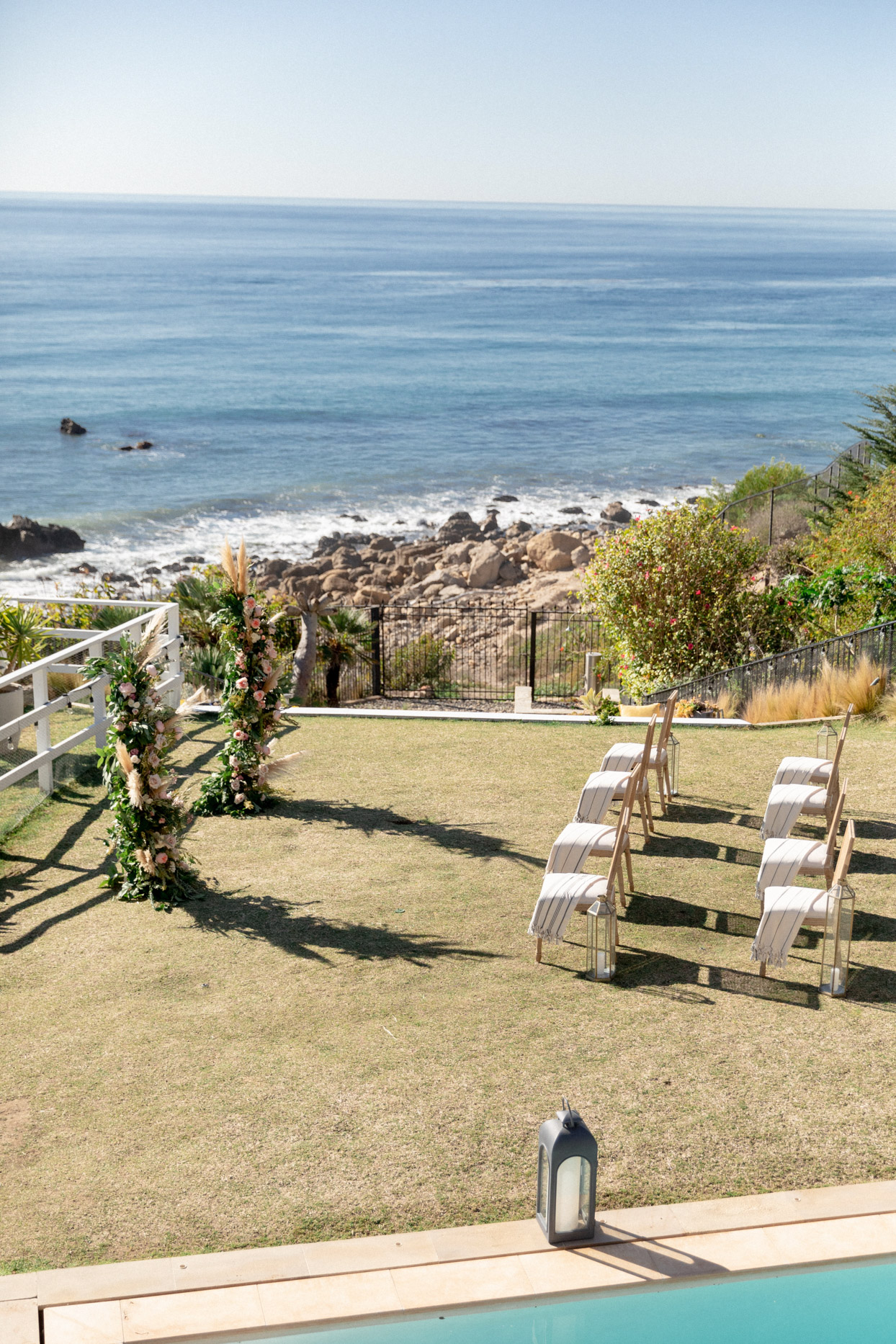 ocean front wedding ceremony location