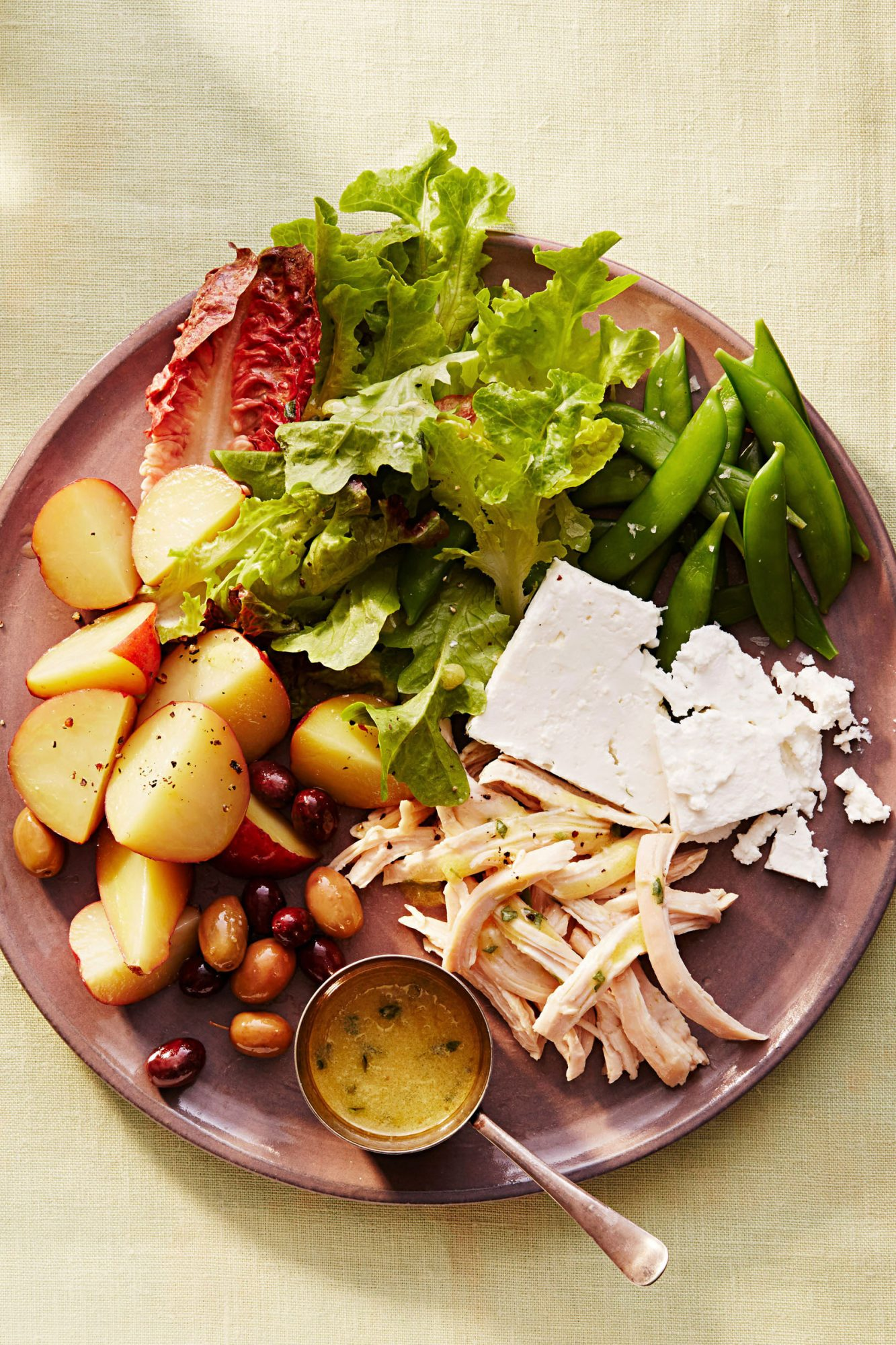 spring chicken nicoise recipe plated