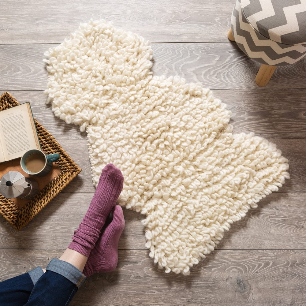 Wool Couture Company crocheted rug