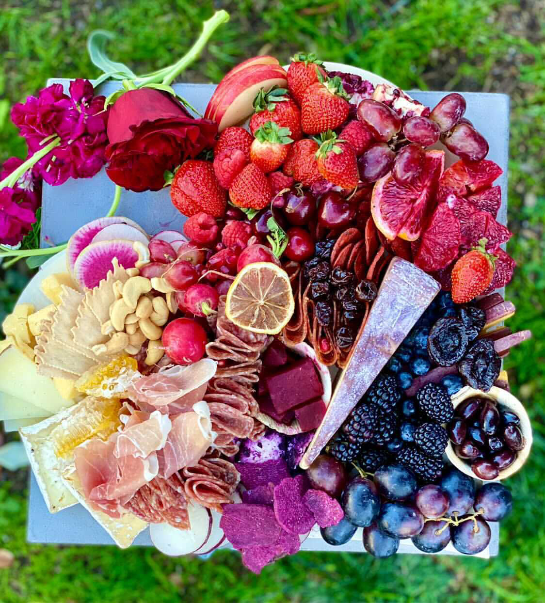 ombre color charcuterie board