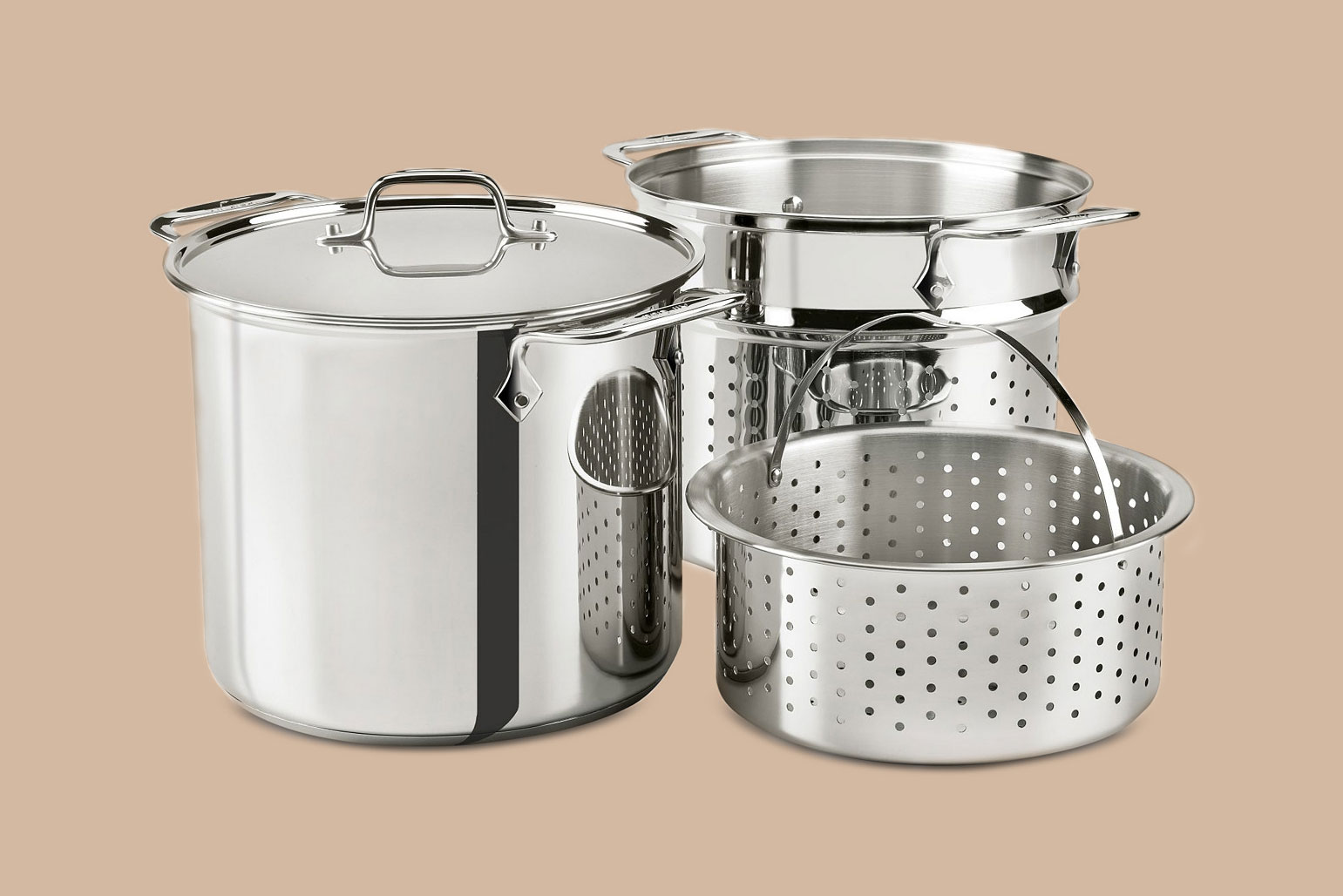 stainless steel multi cook and steamer basket