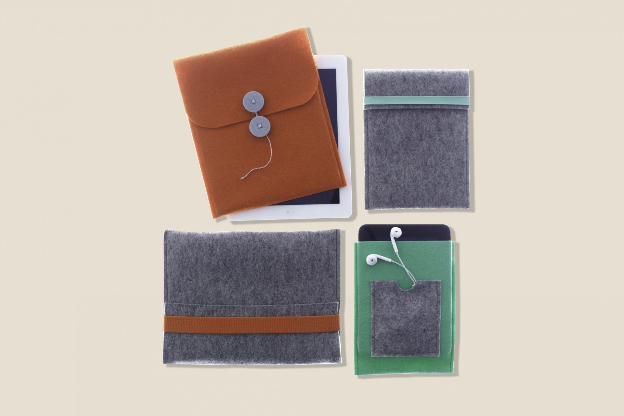 colorful tech cases made of fabric
