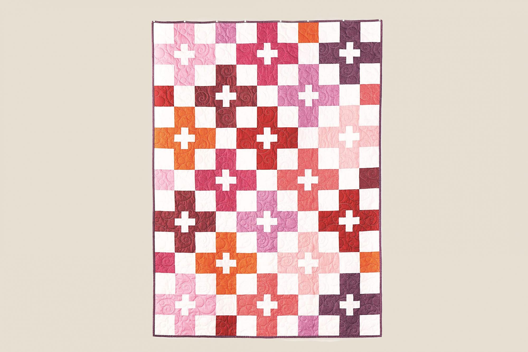 checks plus warm lap quilt kit