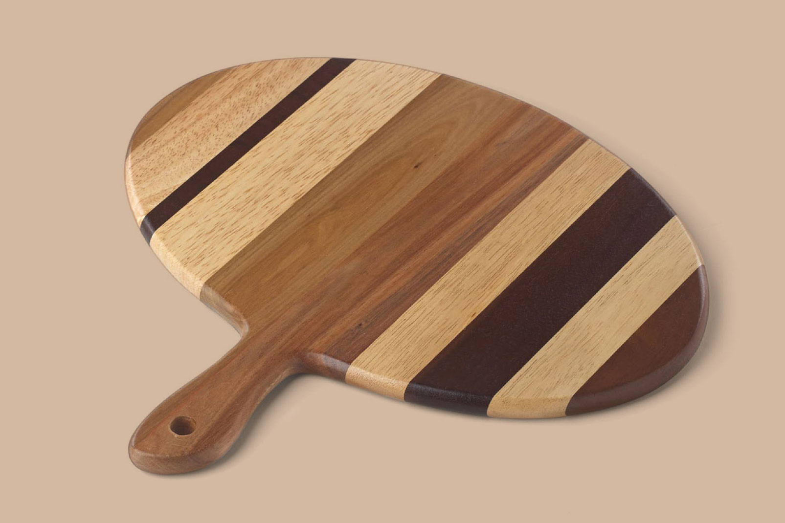 oval acadia wood serving board