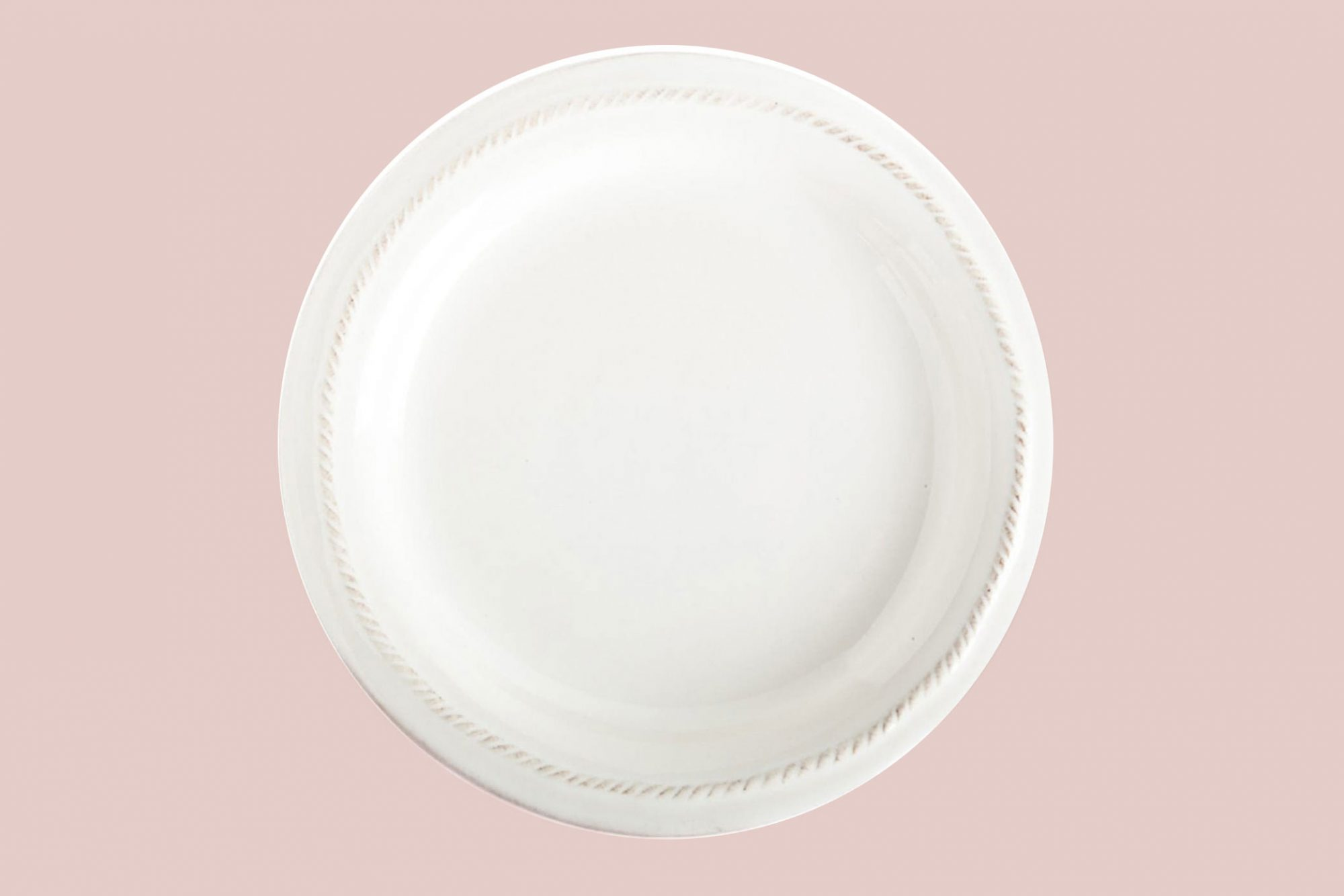 threaded white plate