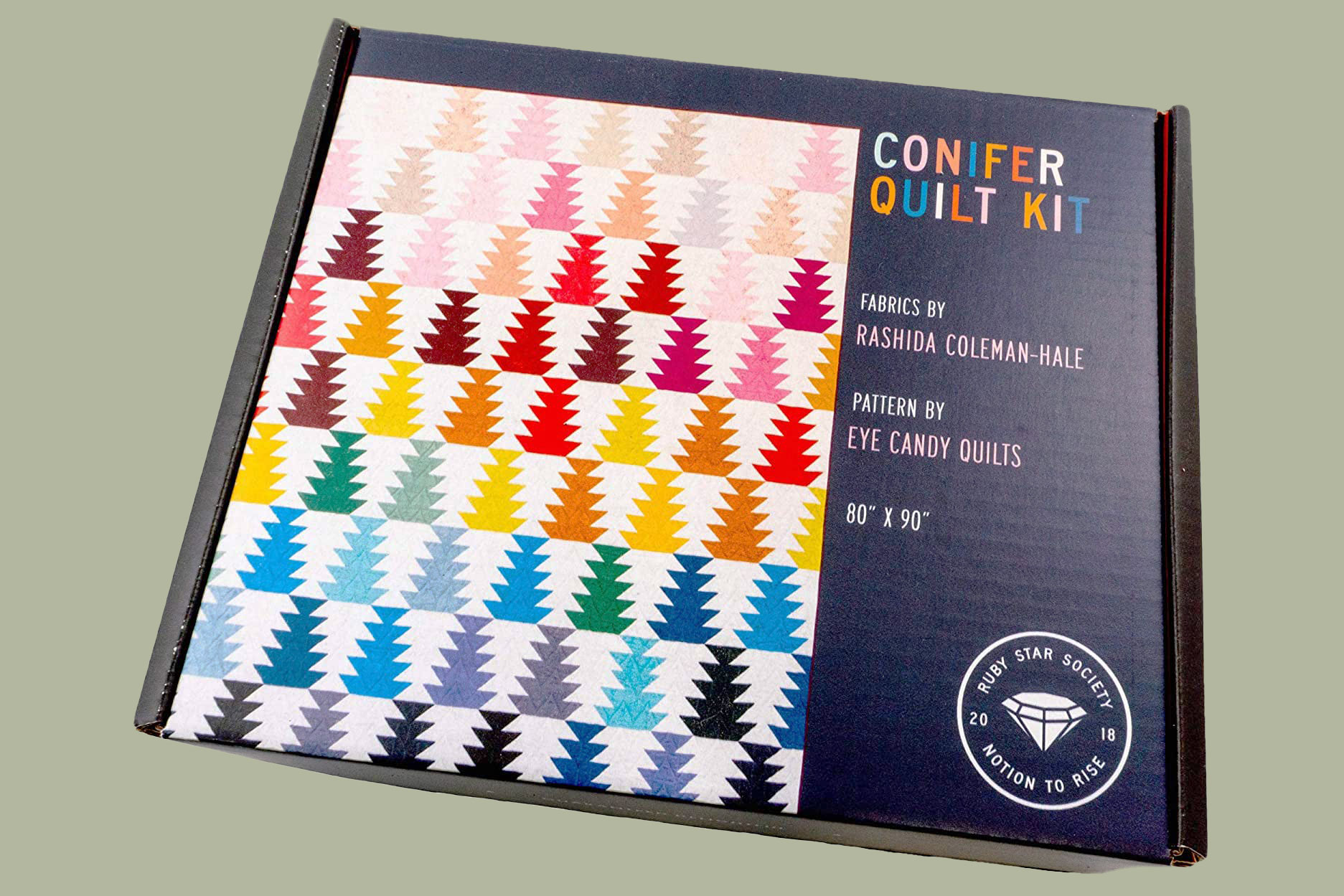 conifer quilt kit box